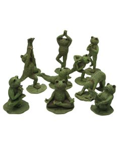 Attractive Adorable Yoga Frogs Great For Garden