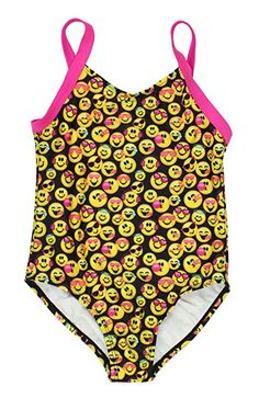 9b55394311ea4 New Emojination Emoji Girls Swimwear Swimsuit Emoji Black) online. Find the  great NIKE girls clothing from top store.