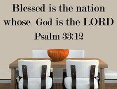 Psalm 3312 Bible Verse Wall Decal Vinyl by INSPIRATIONWALLSIGNS, $20.00