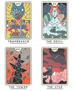 The Tarot (Major Arcana) illustrated by Joe Sparrow  Available soon as for purchase as a deck!