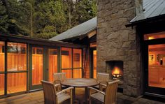 Patio fire -- Schmidt Residence | Cutler Anderson Architects