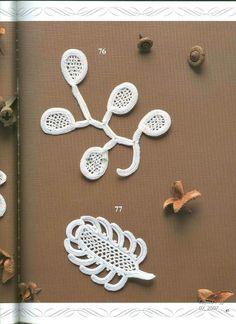 Схемы вязания ирландского кружева Schemes of Irish crochet lace free diagrams 76