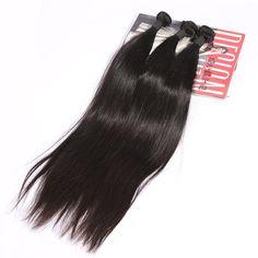 Amazon.com : SpringHair 5A Virgin Brazilian Human Hair Extensions 3 Bundles Weave Remy Weft Silk Straight Natural Black 20 22 24 Inch : Beauty