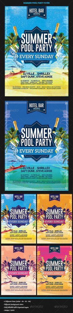 Summer Pool Party Flyer Template PSD | Buy and Download: http://graphicriver.net/item/summer-pool-party-flyer/8203459?WT.ac=category_thumb&WT.z_author=GilleDeVille&ref=ksioks