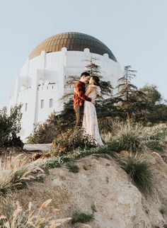 Griffith Observatory Engagement Photos at Golden Hour - Inspired By This Country Engagement, Engagement Couple, Engagement Pictures, Engagement Shoots, Engagement Photography, Wedding Humor, Wedding Blog, Our Wedding, Street Style New York