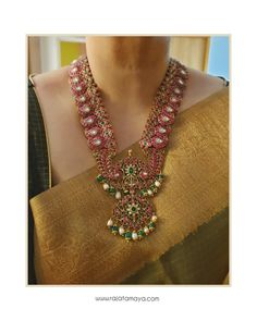 Mango Mala, Jade Beads, Temple Jewellery, Jewelry Stores, Jewelry Design, Fancy, Gold Necklaces, Jewels, Traditional