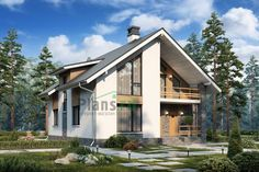Do overhanging roof at front to create balcony from master bedroom Exterior House Siding, Exterior House Colors, Farmhouse Floor Plans, Craftsman House Plans, Cottage Design, House Design, Rendered Houses, House Color Palettes, Home Exterior Makeover