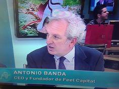 """Antonio Banda, CEO de Feelcapital, en directo en El Telediario de Intereconomía Televisión: """"Nuestro asesoramiento en fondos es barato e individualizado, asesoramos y nos preocupan las personas"""". #FondosDeInversión (6 de octubre de 2015)."""