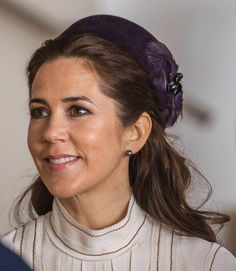 Crown Princess Mary, March 17, 2015 in Jane Taylor | Royal Hats