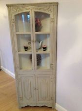 ** SHABBY CHIC CORNER UNIT HAND PAINTED IN FARROW & BALL **