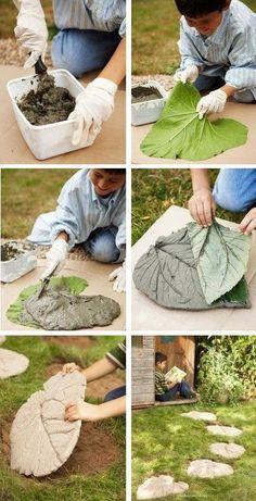 Листья из бетона — от идеи до исполнения