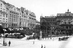 Сквер площі Галицької, котрий також створив А.Рерінг. Фото початку XX ст.