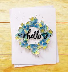 hello card by Aga (Just Made From Paper blog) - Altenew DT