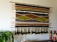 150x100 Tapestry Weaving, Loom Weaving, Home Crafts, Diy And Crafts, Basket Crafts, Boho Room, Woven Wall Hanging, Weaving Techniques, Rug Making