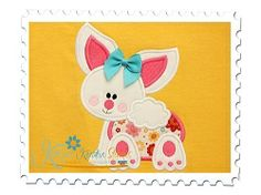Baby Bunny Applique - 4 Sizes! | Baby | Machine Embroidery Designs | SWAKembroidery.com Katelyn's Kreative Stitches
