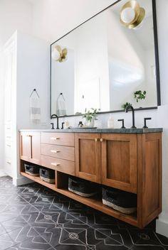 42 best wood vanity images bathroom remodeling bathroom bathroom rh pinterest com Wood Bathroom Wall Cabinets Rustic Wood Cabinets for Bathroom
