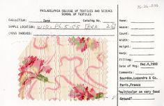 Floral print on cotton. Bourdon, Legendre, and Co. Paris, France. Dec. 8, 1900.