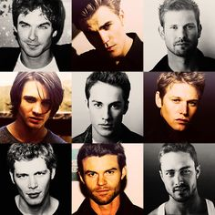 The Guys from the Vampire Diaries - [ not the best pics of Jeremy, Klaus or Mason .. ]. Damon, of course, is imo, the hottest and my favorite <3 .