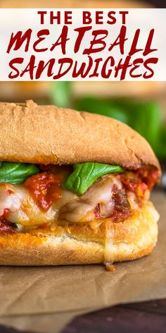 The BEST Meatball Sandwiches with homemade meatballs and marinara sauce! Homemade Marinara, Sausage Meatballs, Best Meatballs, Delicious Sandwiches, Wrap Sandwiches, Bbq Chicken Sandwich, Ham Salad, Sandwich Recipes