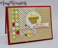 Stampin' Up! Fruit Basket for the Happy Inkin' Thursday Blog Hop