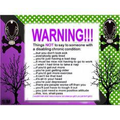 Warning from Barbara Hernandez