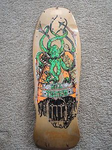 RARE OLD SCHOOL VINTAGE 80'S BILL TOCCO G OCTOPUS SKATEBOARD DECK!!!