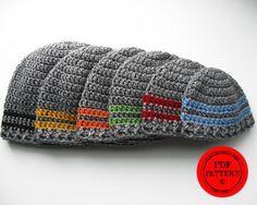 Two Stripe Beanie, crochet hat pattern
