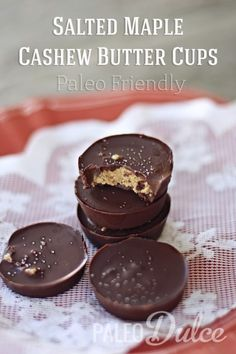 Cashew Butter Cups   paleodulce.com