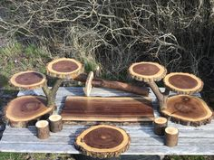 Large Log Dark Elm Wood Rustic Cake 120 Cupcakes Pie Stand Wedding party shower wooden 10 tiered Collapsible – Wedding Cakes With Cupcakes Wedding Cake Stands, Wedding Cakes, Cupcake Stand Wedding, Wood Cake, Rustic Cake, Boy First Birthday, Wood Slices, Design Crafts, Fresh Flowers