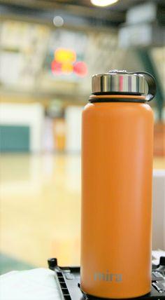 Cute Water Bottles, Glass Water Bottle, Sweat Proof, Stainless Steel Water Bottle, Food Grade, Flask, Rust, Powder, Pumpkin