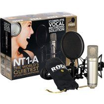 Rode NT1A Anniversary Vocal Condenser Microphone Package // Description // Details Sales Rank: #625 in Musical Instruments Color: Gold Brand: Rode Model: NT1A ANNIV Number of items: 1 Dimensions: 11.00 h x 4.50 w x 15.25 l,4.60 pounds Features Large 1 inch capsule with gold plated diaphragm Cardioid polar pattern Self Noise of only 5 dB (A) Ultra low noise, transformerless surface mount// read more >>> http://Julene668.iigogogo.tk/detail3.php?a=B002QAUOKS