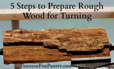 The key to successful woodturning is preparing the rough wood, securing the wood on the lathe, and to have the wood stay on the lathe as you turn the wood..
