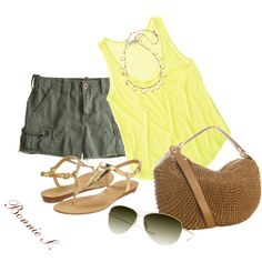 """""""summer outfit"""" by bonnaroosky on Polyvore"""