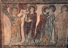 Crypte de l'église de Gargilesse-Annonciation-20120429 - Pintura románica - Wikipedia, la enciclopedia libre