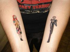 Jack and Sally Tattoo