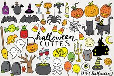 Cute Halloween Clipart Illustrations by Lemonade Pixel on @creativemarket #halloween #graphics