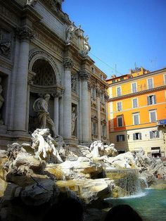 Fontana di Trevi, Rome, Italy - I turned 50 in Rome and we walked to the Trevi Fountain after a beautiful birthday dinner that night. Places Around The World, Oh The Places You'll Go, Around The Worlds, In Another Life, Trevi Fountain, Rome Italy, Bella Roma, Beautiful Places, Passport Stamps