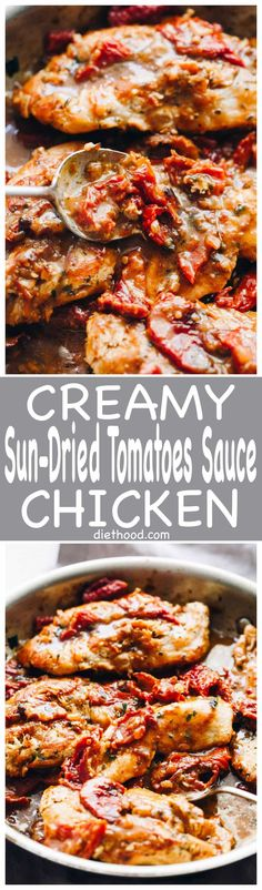 Creamy Sun-Dried Tomato Sauce Chicken: Quick, easy and delicious pan-seared chicken with an amazingly flavorful sun dried tomatoes sauce! It's a 30-minute, one pan meal that you can't resist! via @diethood
