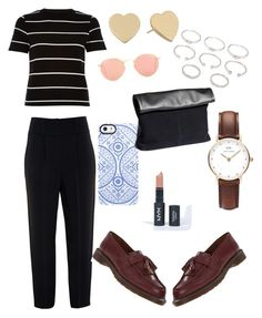"""""""city vibes #1"""" by irdinamahirah on Polyvore featuring River Island, Givenchy, Kate Spade, Forever 21, Ray-Ban, Uncommon, H&M, Dr. Martens and Daniel Wellington"""