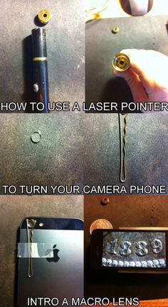life hacks, camera phone macro lens!