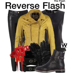 The Flash by wearwhatyouwatch on Polyvore featuring Barbour, Frame Denim, Christian Louboutin, Roeckl, John Lewis, television and wearwhatyouwatch