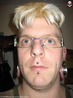 Why do people get those huge ear piercings and he has like 20 piercings