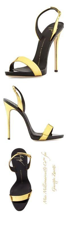 Giuseppe Zanotti Metallic High-Heel Sandal  |  giuseppe zanotti