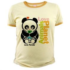 $20.89 - Love Panda® Jr. Ringer T-Shirt! This 4.8 oz. cotton ringer tee is made of 100% fine cotton jersey and is incredibly cute. Demands a lot of attention and hugs! Size up for a looser fit! Different colors available. SHOP here: http://cutebrands.net/cute-shop-take-action/children-a-teens * a % of all annual revenues will be donated to select not-for-profit organizations that help protect & preserve endangered animals!