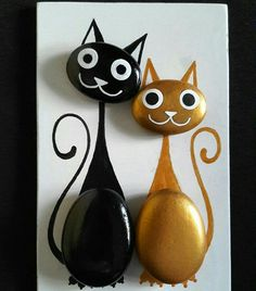 Gold and black kitty cats