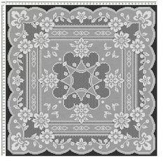Mojalbum - foto album in oglasnik Crochet Table Topper, Crochet Tablecloth Pattern, Crochet Doily Patterns, Crochet Borders, Crochet Squares, Crochet Motif, Crochet Doilies, Crochet Flowers, Filet Crochet Charts