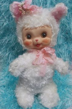 Superb Condition Vtg Rushton Rubber Face Baby Kitty Cat Kitten | eBay