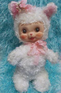 Superb Condition Vtg Rushton Rubber Face Baby Kitty Cat Kitten | eBay