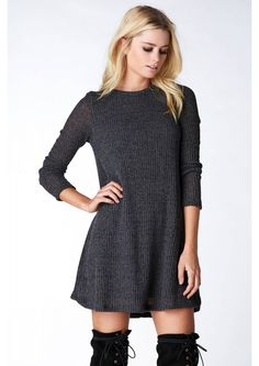 Perfectioknits Mini Dress in Charcoal | Necessary Clothing