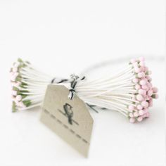100 Stems of Pink and Green Vintage Style Millinery by caramelos, $4.25